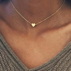 3/ $30 Gold Tone Love Heart Charm Pendant Necklace